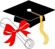 Diplôme de graduation et capuchon/ENV Photos libres de droits