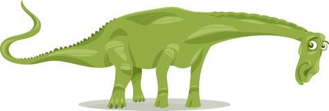 Diplodocus dinosaur cartoon illustration Royalty Free Stock Images