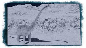 Diplodocus enorme su terra sterile Immagine Stock Libera da Diritti