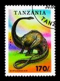 Diplodocus förhistorisk djurserie, circa 1994 Arkivbild