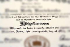 Diplom Lizenzfreie Stockfotos
