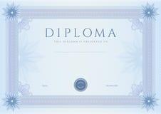 Diplom-/Сertificate utmärkelsemall. Modell Royaltyfria Foton