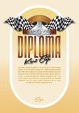 Diplom für den Sieger der Meisterschaft Stockbild