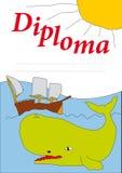Diplom für Kinder 2 Lizenzfreies Stockbild