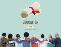 Diplom-Grad-Staffelungs-Kurs-Bildungs-Konzept Stockfoto