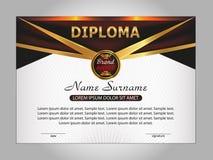 Diplom oder Zertifikat belohnung Gewinnen des Wettbewerbs Preis w Lizenzfreie Stockfotografie