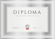 Diploma / Сertificate award template. Frame Royalty Free Stock Photography