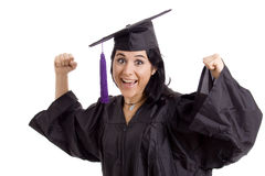 Diploma. Young woman with final degree diploma Royalty Free Stock Photo