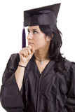 Diploma. Young woman with final degree diploma Royalty Free Stock Image