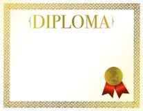 Diploma Stock Afbeelding