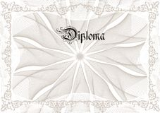 Diploma. Vector diploma with brown elements stock illustration