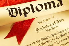 Diploma stock afbeeldingen