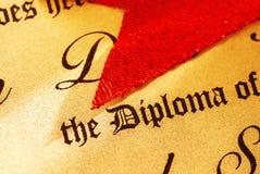 Diploma Immagine Stock Libera da Diritti