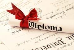 Diploma. Graduation Diploma, shallow depth of field Stock Photography