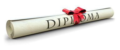 Diploma stock illustration