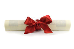 Diploma aislado Foto de archivo libre de regalías