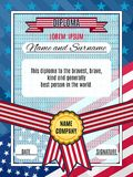 Diploma american award vector bright interesting background with Royalty Free Stock Photo