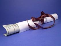 Diploma & moeda Imagem de Stock