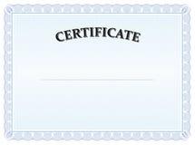 Diploma azul do graduado do certificado Imagens de Stock Royalty Free