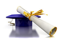 Diploma of a bachelor Royalty Free Stock Image