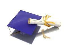 Diploma of a bachelor Stock Photo