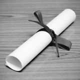 Diploma black and white color tone style Stock Photo