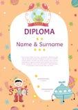 Diploma Cartoon Vector Template Stock Photo