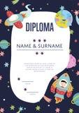Diploma Cartoon Vector Template Royalty Free Stock Photos