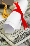 Diploma cash Stock Images