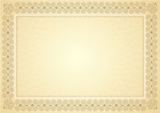 Diploma certificate. Vintage diploma certificate for all special events Royalty Free Stock Photos