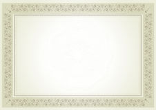 Diploma certificate. Old fashioned diploma certificate for finance, graduation and any events Royalty Free Stock Image