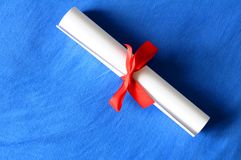 Diploma or certificate Stock Photography
