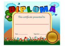 Diploma certificate Royalty Free Stock Image