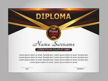 Diploma or certificate. Reward. Winning the competition. Award w Royalty Free Stock Photography