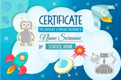 Diploma, the certificate of the teaching game on the theme of Co Royalty Free Stock Images