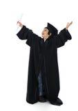 Diploma che si laurea il piccolo bambino dell'allievo Fotografia Stock