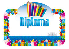 Diploma for children Stock Image