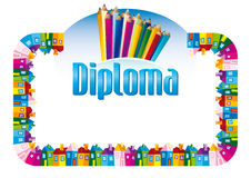 Diploma for children Royalty Free Stock Photo