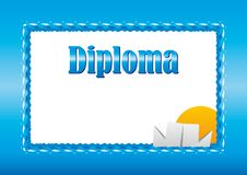 Diploma for children Royalty Free Stock Photography