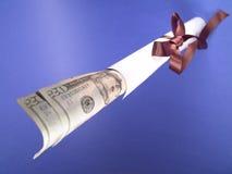 Diploma com dinheiro Fotos de Stock