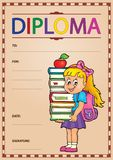Diploma composition image 2 Royalty Free Stock Image