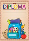 Diploma composition image 4 Royalty Free Stock Image
