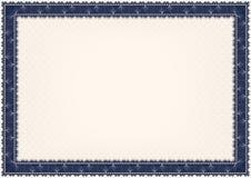 Diploma con il seashell Immagine Stock