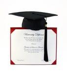 Diploma da faculdade foto de stock