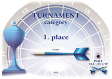 Diploma darts Royalty Free Stock Photos