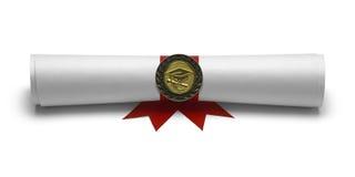 Diploma Degree Front View Royalty Free Stock Image
