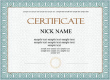 Diploma del certificato per la stampa Immagine Stock