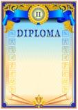 Diploma design template Stock Image