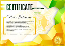 Diploma design template Royalty Free Stock Images