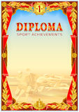 Diploma design template Stock Images